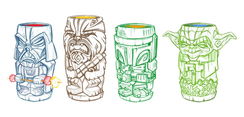 Tiki-StarWars-sketches01